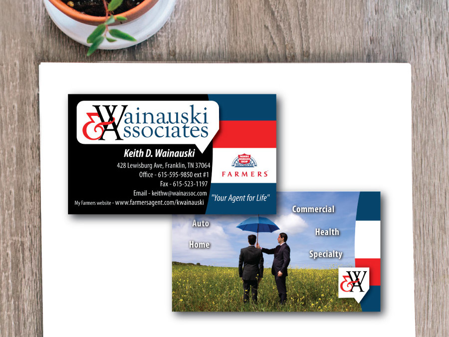 Farmer's Insurance Business Card – Franklin, TN