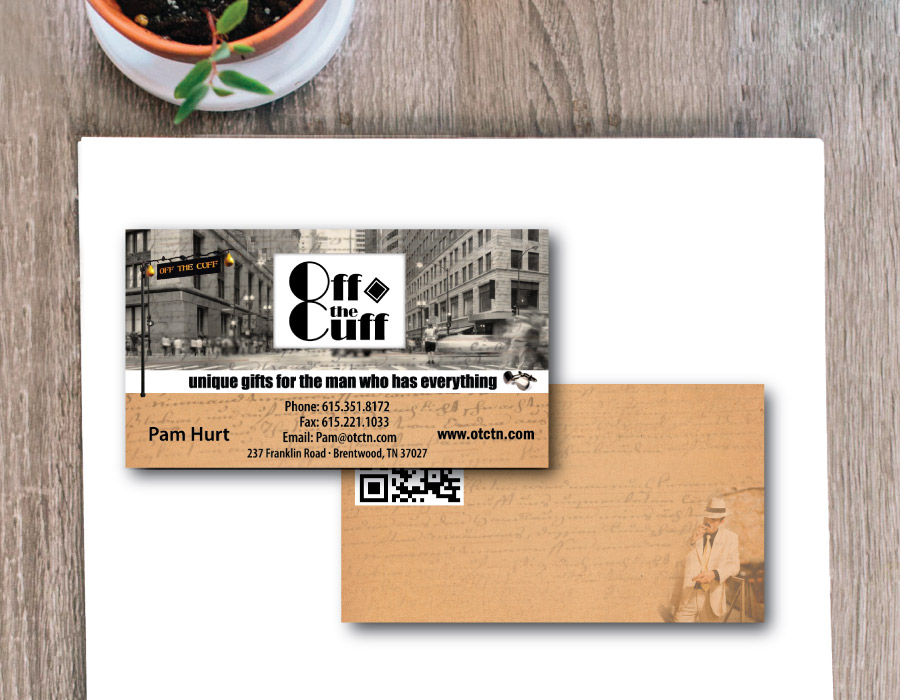 Men's Gift Shop Business Cards – Brentwood, TN