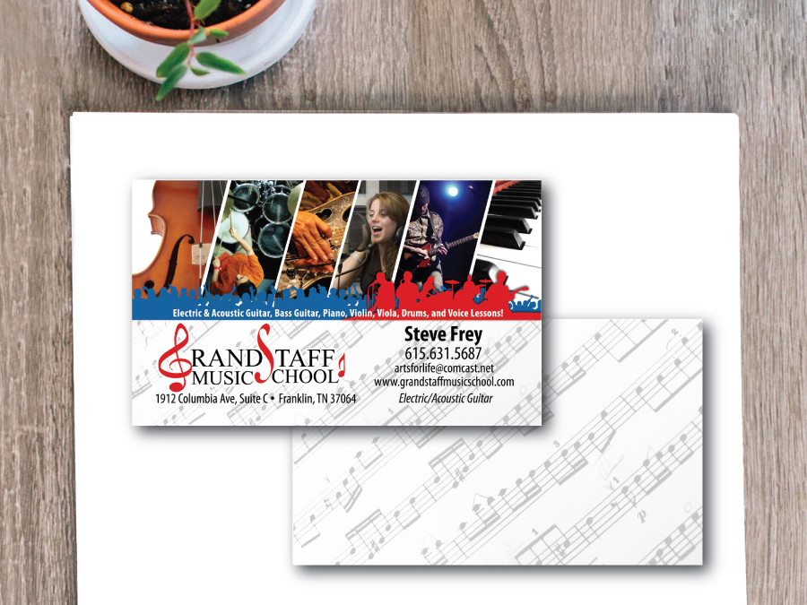 Grand Staff Music School Business Card – Franklin, TN