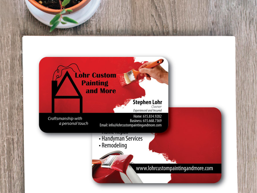 Lohr Custom Painting Business Card – Nashville