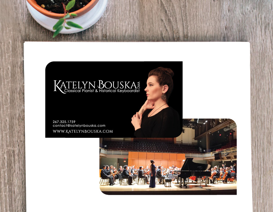 Classical Musician Business Card and Logo – Philadelphia, PA