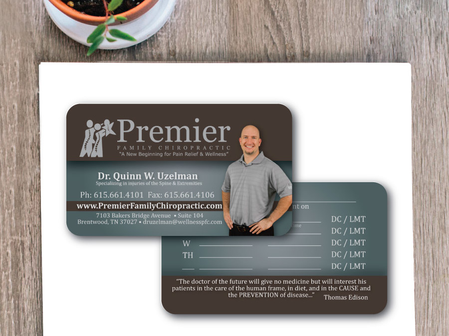 Premier Chiropractic Business Card – Franklin, TN