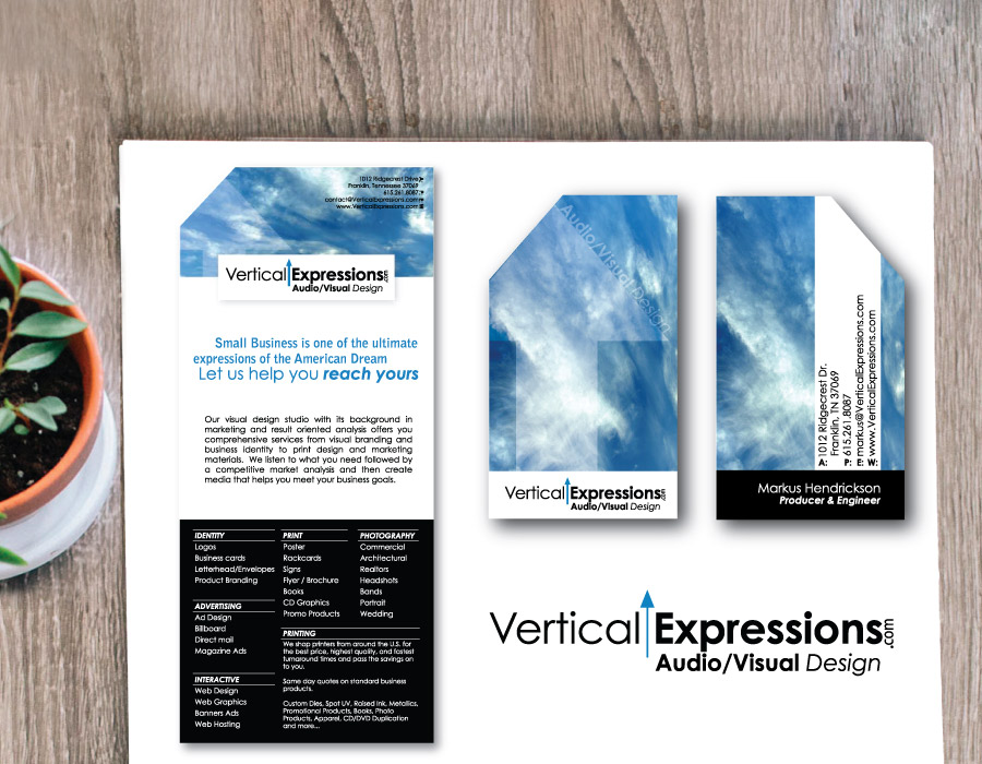 Media Company Brand Set – Logo, Business Card, Postcard – Franklin, TN